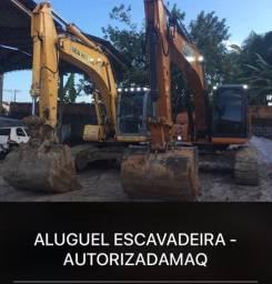 Aluguel escavadeira hidráulica