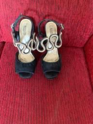 Sandalia de salto / festa