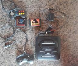 Mega Drive 3 + 2 Controles + 10 jogos Clássicos