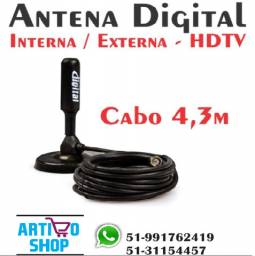 Antena Interna Tv Digital Hdtv Dtv - Full Hd Sinal Digital