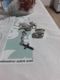 Vendo anel da Oakley e corrente de prata
