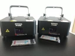 2x Laser Show System Briwax Bx-1000rgb