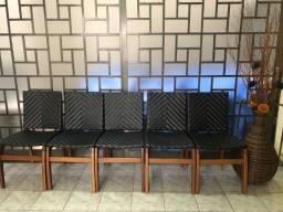 Cadeiras de juta e madeira maciça und ou conjunto