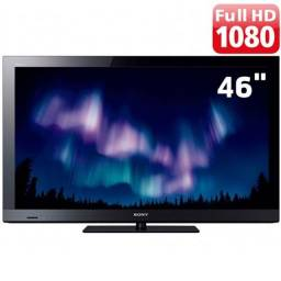 "TV Sony 46"" LCD Full HD c/ Entradas HDMI e USB e Conversor Digital"