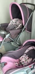 Bebê conforto e carrinho de bebê cosco