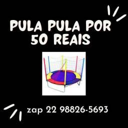 Aluguel de pula pula por 50 reais