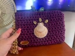 Bolsa artesanal em Crochê
