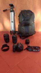 Conjunto fotográfico Canon ( Semi- novo) - Lentes: 24x105mm L, 18x135mm, e 50mm