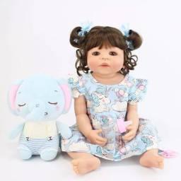Boneca Bebê Reborn Silicone 55 (Nova)
