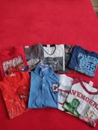 9 camiseta manga longa menino TAM 10