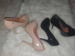 Dois pares de sapato por 50.00 marca vizzano e zatz