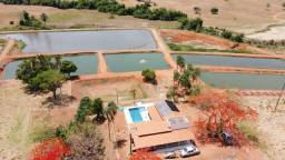 Chácara de 5.78 alqueires (28 Ha) com piscicultura Morrinhos -GO