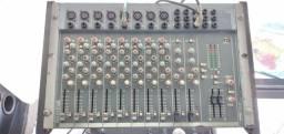 Mesa de som 12 canais balanceados