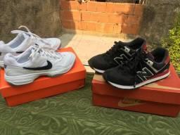 Tênis semi novos baratos nike e new balance