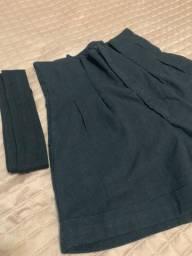 Short preto cintura bem cintura alta