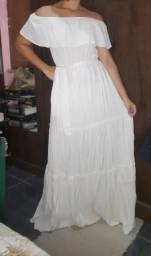 Vestido longo Branco NOVO