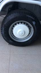Roda Kombi Ferro Original Calotas Pneu