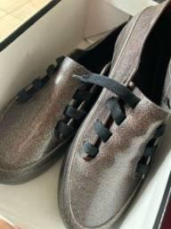 Melissa Mel Ulitsa Sneaker Special Preto Glitter Prata