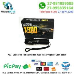 737 - Lanterna Tática Militar X900 Recarregável Com Zoom - Original
