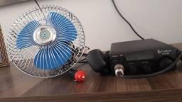Rádio  cobra  um ventilador e uma  antena  aquário nova  no plástico