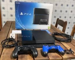 Playstation 4 - 500gb + 2 Controles + 5 Jogos - Ps4