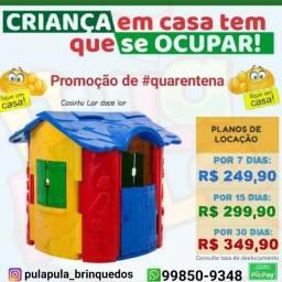 Aluguel Casinhas playground por 7, 15 e 30 dias de diversão na quarentena