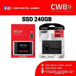 SSD 240GB SanDisk. Novo lacrado e com garantia. Loja Física
