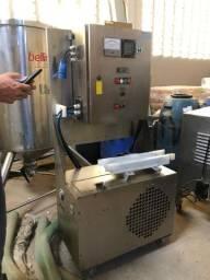 Seladora de tampa por indução em aço inox - GRC