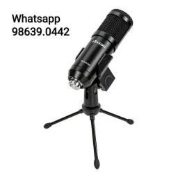 Kit Microfone Condensador Estúdio Bm800 USB + tripé (Novo, aceito cartão)