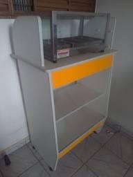 Expositor caixa e estufa