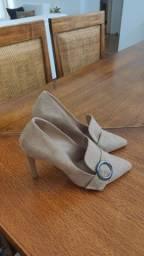 Sapato scarpin camurça