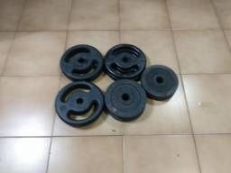 Kit 48kgs em anilhas