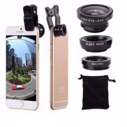 Kit De Lentes Para Celular E Smartphone 3 Em 1