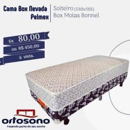 cama box solteiro molas #