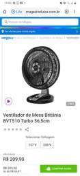 Ventilador forte 220 turbo Britânia usado 1 vez