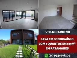 Villa Giardino, Casa em condomínio com 3 quartos em 129m² em Patamares - Maravilhoso