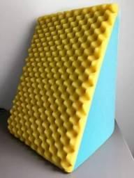 Travesseiro Triangular + Capa Lavável Impermeável Almofada Anti Varizes Anti Refluxo