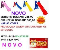 oferta de escorregadores 03 degraus 285,00/04 degraus 585,00