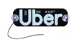 Placa Para Uber azul Acrílico Car Rideshare Luz Para Dentro Janela Logo Pára-brisa
