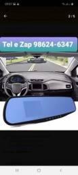 Espelho Retrovisor Com Câmera Frontal Full Hd E Câmera De Ré