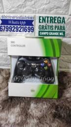Controle com fio para Xbox e Pc.(novo)