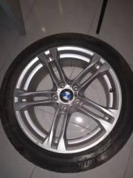 Jogo de rodas com pneus originais BMW 528i aro 18'
