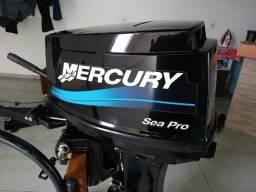 motor de popa 25hp Mercury 2010/11 com partida ele troca,por motor de menor valor.