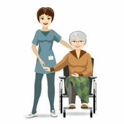Busco trabalho como cuidadora de idosos ou ou como folguista