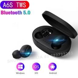 Fone sem fio Blutetooth 5.0 Ouvido A6s Bluetooth 5 0 / Wireless / Sport Com Microfone