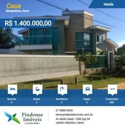 Casa duplex em Manguinhos, 04 quartos