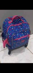 Vendo kit mochila escolar costas e rodinha KIPLING original com estojos