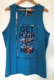 Camiseta Regata Overcore Tamanho G Cor Azul Produto Novo