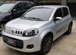 Fiat Uno Sporting 1.4 2012 Prata c/ GNV !!! Carro Muito Novo, com Economia!!!