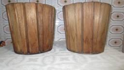 Cachepô para vaso madeira rústico - ótimo estado